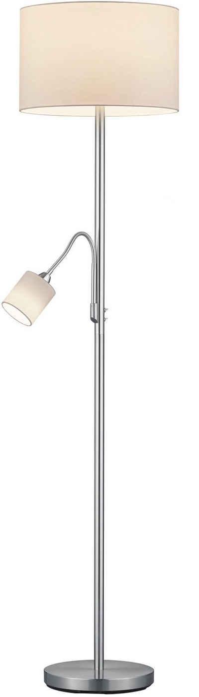 TRIO Leuchten Stehlampe »Hotel«, mit flexibel einstellbarer Leseleuchte, getrennt schaltbar