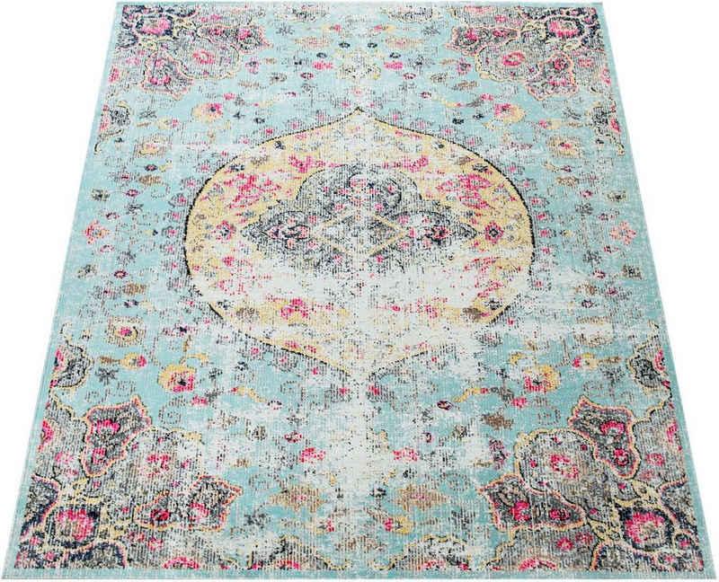 Teppich »Artigo 401«, Paco Home, rechteckig, Höhe 2 mm, Kurzflor, Orient-Optik, Vintage Design, In- und Outdoor geeignet, Wohnzimmer