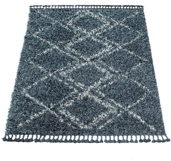 Hochflor-Teppich »Nador 751«, Paco Home, rechteckig, Höhe 55 mm