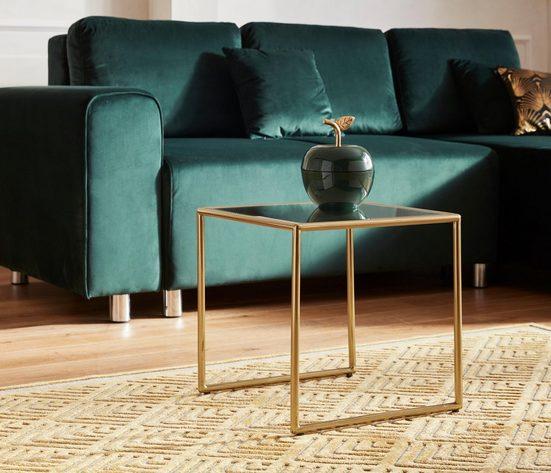 Guido Maria Kretschmer Home&Living Couchtisch »Asten«, aus Metall mit verspiegelter Tischplatte