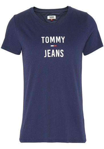 TOMMY JEANS T-Shirt »TJW SQUARE LOGO TEE« mit Tommy Jeans Basic Print