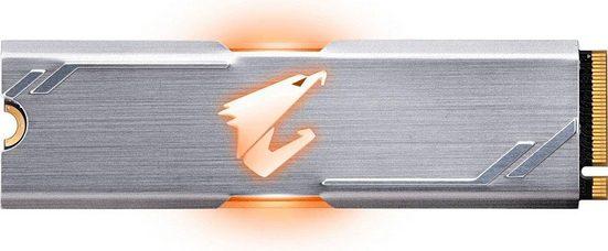 Gigabyte »AORUS RGB M.2 NVMe« SSD (256 GB) 3100 MB/S Lesegeschwindigkeit, 1050 MB/S Schreibgeschwindigkeit)