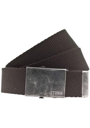 TOM TAILOR Denim Stoffgürtel Bandgürtel mit Vintagekoppelschließe
