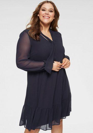 GMK Curvy Collection A-Linien-Kleid mit Schluppenkragen
