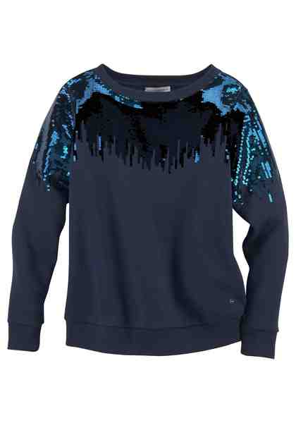GUIDO MARIA KRETSCHMER Sweatshirt mit schimmernden Pailletten