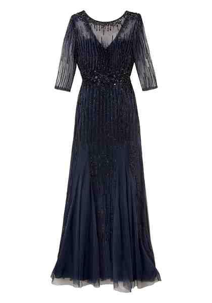 GUIDO MARIA KRETSCHMER Abendkleid mit transparentem Schulterbereich