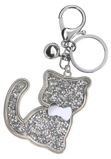 J.Jayz Schlüsselanhänger, mit Herz-, Teddy- oder Katzen Motiv, Glitzer