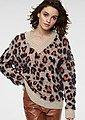 GUIDO MARIA KRETSCHMER V-Ausschnitt-Pullover im modischen Animal-Look, Bild 1