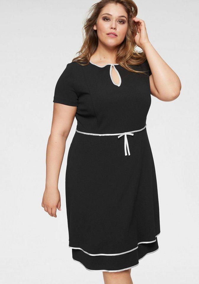 ca51b510d0022 GMK Curvy Collection A-Linien-Kleid mit Kontrastbändern online ...