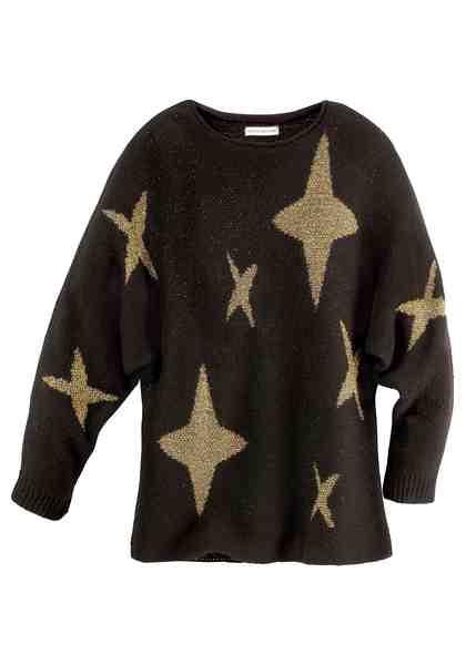 GUIDO MARIA KRETSCHMER Rundhalspullover mit glänzenden Sternen-Motiven