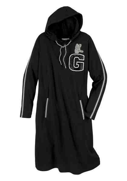 GMK Curvy Collection Longsweatshirt mit sportlichen Streifen