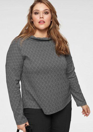 GMK Curvy Collection Sweatshirt mit klassischem Stehkragen