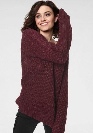 GUIDO MARIA KRETSCHMER V-Ausschnitt-Pullover mit eingearbeitetem Glanzgarn