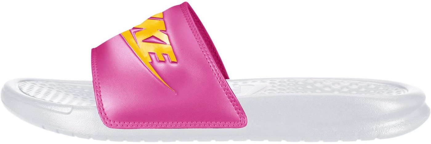 Damen Nike Sportswear »Wmns Benassi Just Do It« Badesandale orange, schwarz, weiß | 00192501948544