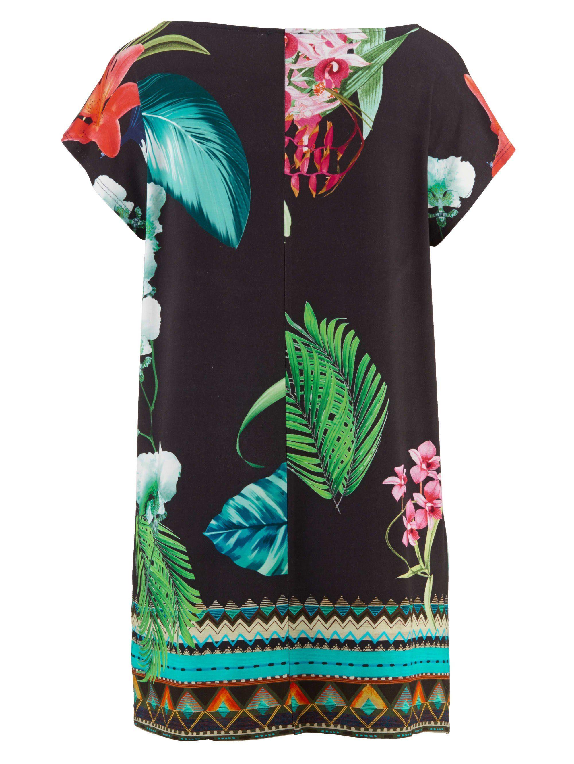 Alba Moda Shirt mit Bordüren-Druck, Mit leuchtendem Blumendruck in Vorder- und Rückteil online kaufen