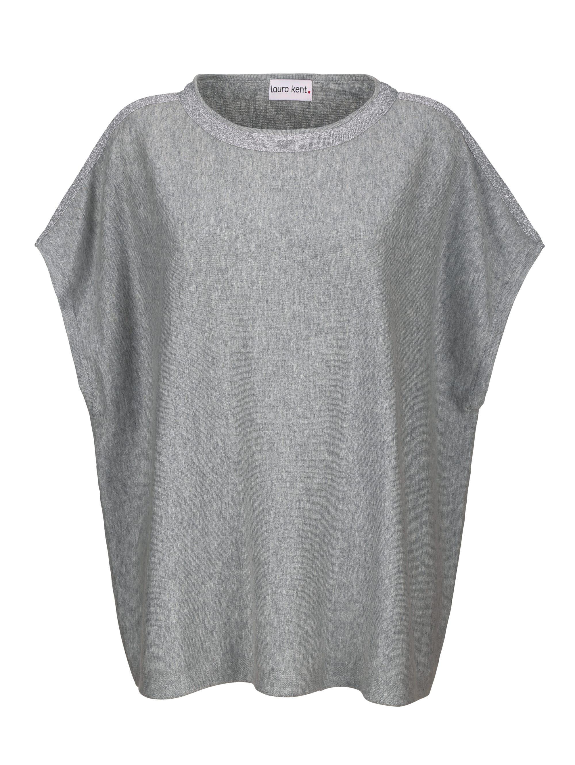 Frontprint Gina Laura Shirt relaxed silver weiss NEU