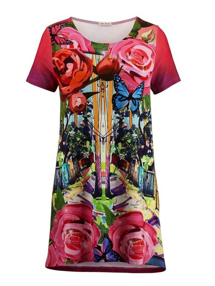 Alba Moda Strandshirt mit plakativem Druck