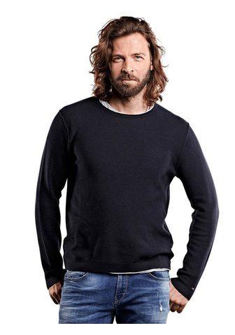 С круглым вырезом пуловер с Struktur