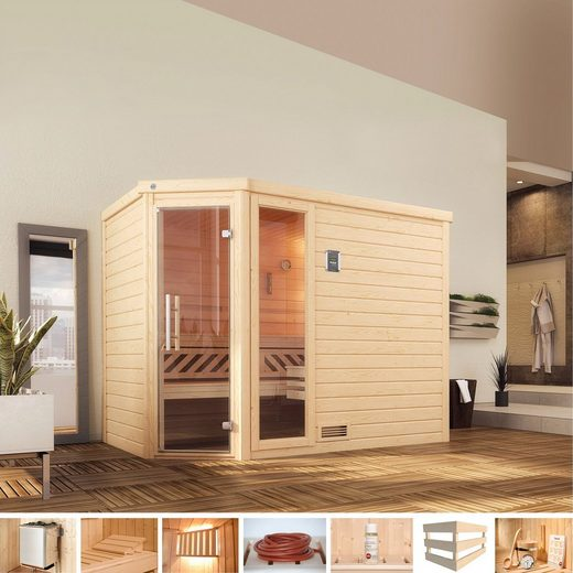 WEKA Sauna »Arendal 3«, 245x195x205 cm, 9 kW Ofen mit int. Steuerung