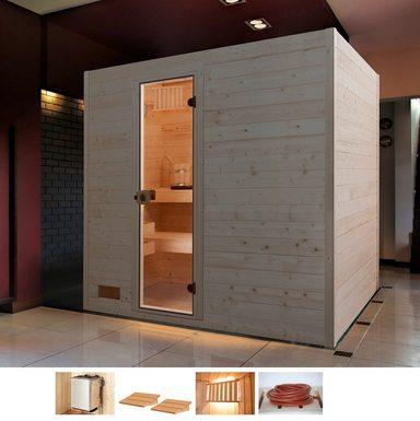 WEKA Sauna »Vaasa 3«, 239x189x203,5 cm, 9 kW Ofen mit int. Steuerung