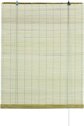 Seitenzugrollo »Bambus-Rollo«, GARDINIA, Lichtschutz, mit Bohren, freihängend