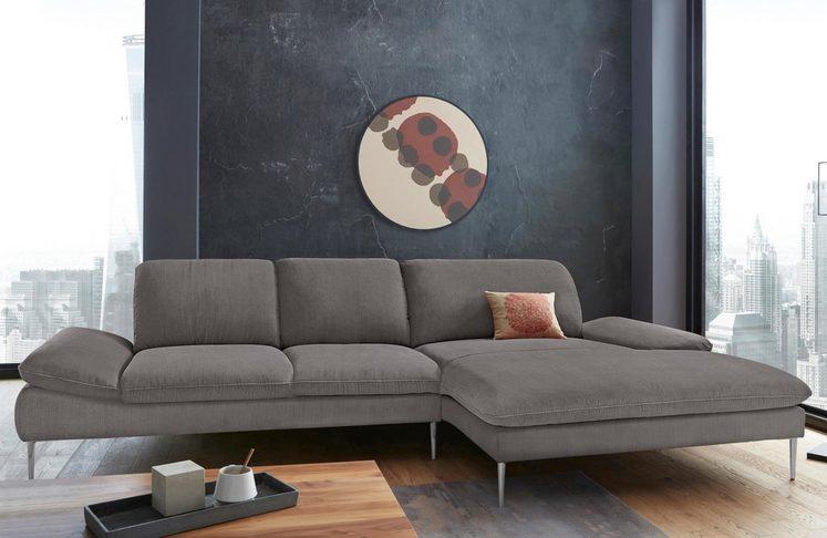 W SCHILLIG Ecksofa enjoy&MORE mit Sitztiefenverstellung Füße Chrom glänzend Breite 340 cm
