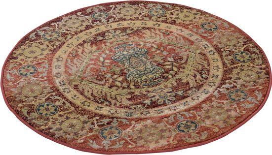 Teppich »Gabiro 3070«, THEKO, rund, Höhe 10 mm, Kurzflorteppich, klassisches Design