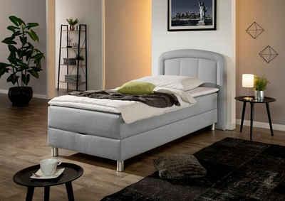 Maintal Polsterbett »Lucas«, mit Bettkasten, in 4 Breiten und wahlweise 2 Matratzenarten und 2 Härtegrade