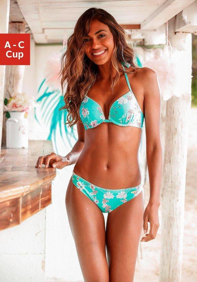 sunseeker push up bikini top ditsy mit h kelkante. Black Bedroom Furniture Sets. Home Design Ideas