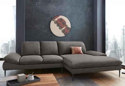 W.SCHILLIG Ecksofa »enjoy&MORE«, mit Sitztiefenverstellung, Füße schwarz pulverbeschichtet, Breite 310 cm