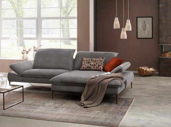 W.SCHILLIG Ecksofa »enjoy&MORE«, mit Sitztiefenverstellung, Füße bronze pulverbeschichtet, Breite 294 cm