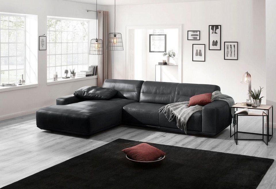 w schillig leder ecksofa mit recamiere william. Black Bedroom Furniture Sets. Home Design Ideas