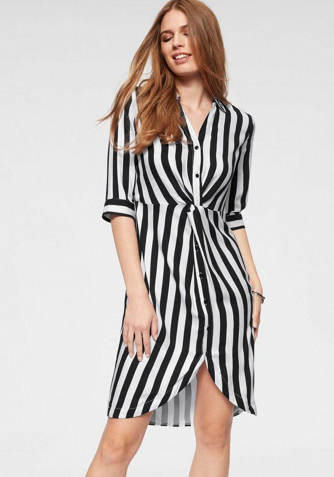 herren niedrigster Rabatt beliebte Marke Laura Scott Hemdblusenkleid mit Knotendetail in der Taille online kaufen    OTTO