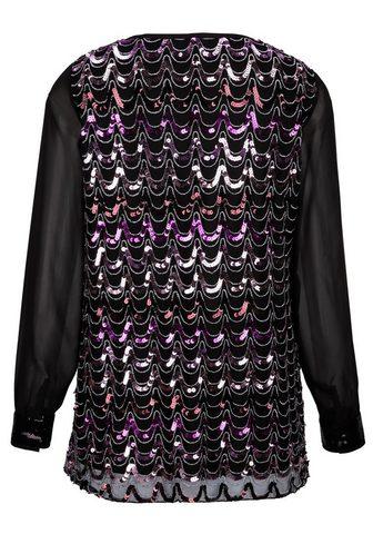 Блуза с schimmernden с пайетками в спе...
