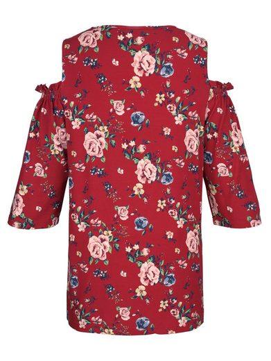 MIAMODA Shirt mit Cut-Outs an Schultern