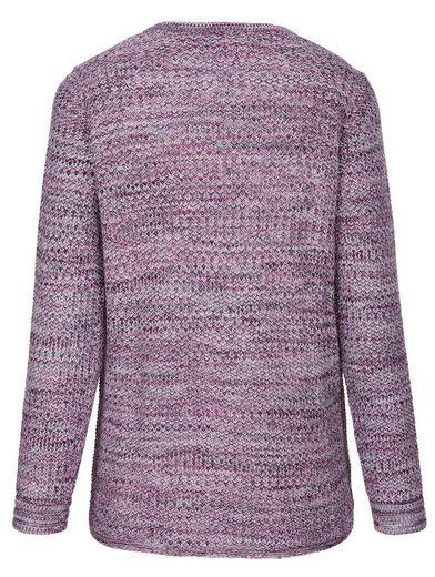 MIAMODA Pullover aus effektvollem Melange-Garn