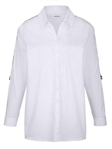 MIAMODA Bluse mit trendigem Dekoband seitlich am Arm