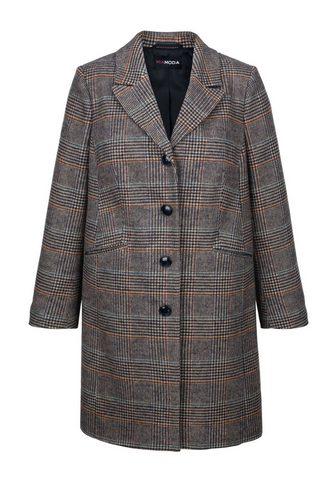 MIAMODA Vilnonis paltas su Karo-Muster