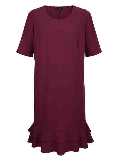 MIAMODA Kleid mit Volants am Saum