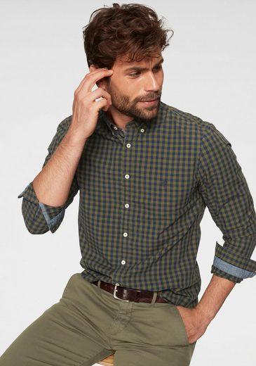 Marc O'Polo Langarmhemd Kontrastbesätze
