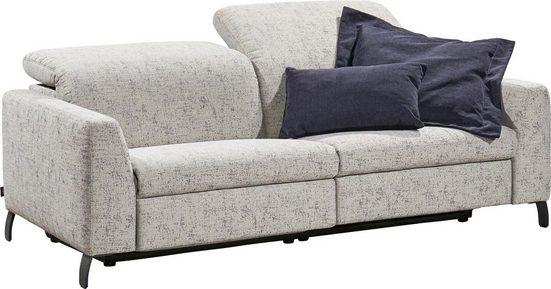 SCHÖNER WOHNEN-Kollektion Big-Sofa »Flow«, Recamiere wahlweise links oder rechts, mit manueller Kopfteilverstellung, wahlweise mit motorischer Relaxfunktion