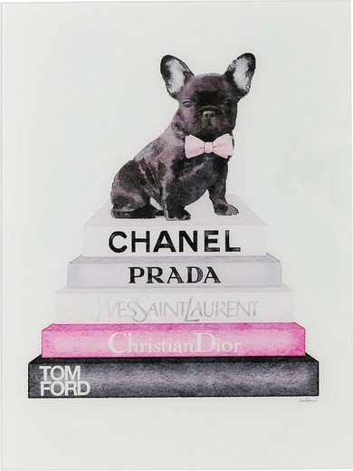 KARE Glasbild »Fashion Dog«