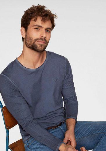 Joop Jeans Langarmshirt »MODERN FIT - Carlos« Used-Waschung, jedes Teil ein Unikat!