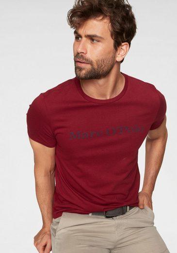 Marc O'Polo T-Shirt tonig, dezenter Logoschriftzug