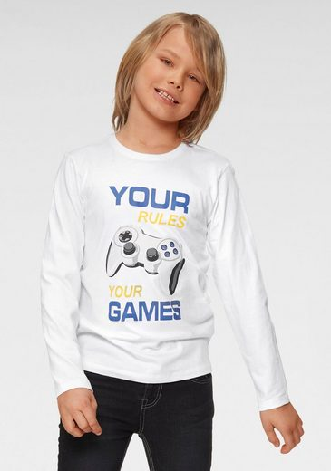 Arizona Langarmshirt »Your rules, your games«, Druck