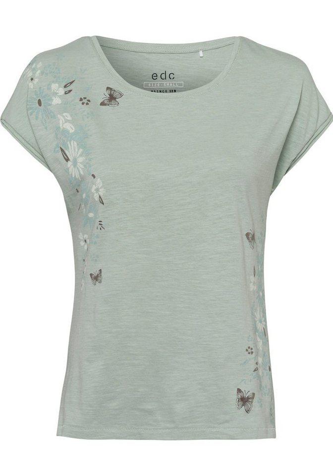 Website für Rabatt Dauerhafter Service Junge edc by Esprit T-Shirt mit Print mit partiellem Metallic-Effekt online  kaufen | OTTO