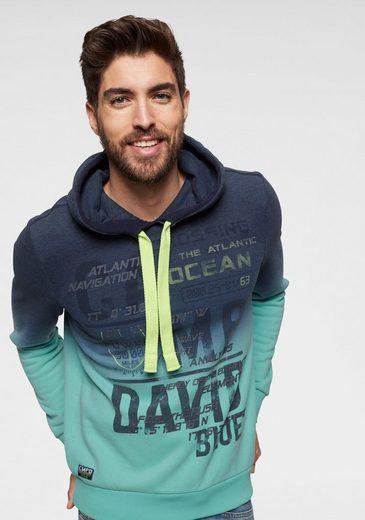 CAMP DAVID Kapuzensweatshirt mit großem Logodruck