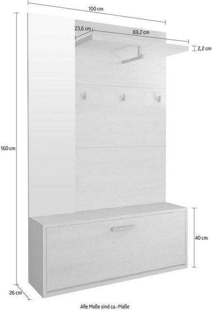 Garderoben Sets - Garderoben Set »SINA VA 01«, (2 tlg)  - Onlineshop OTTO
