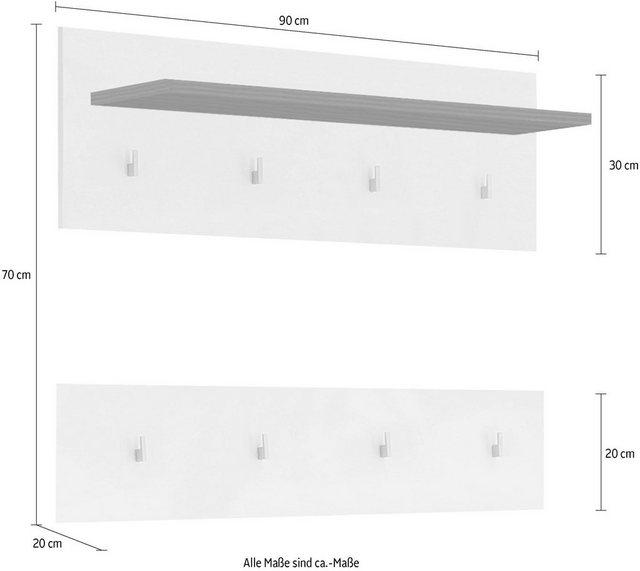 Garderobenleisten und Haken - Garderobenpaneel »LIGHT 89«  - Onlineshop OTTO