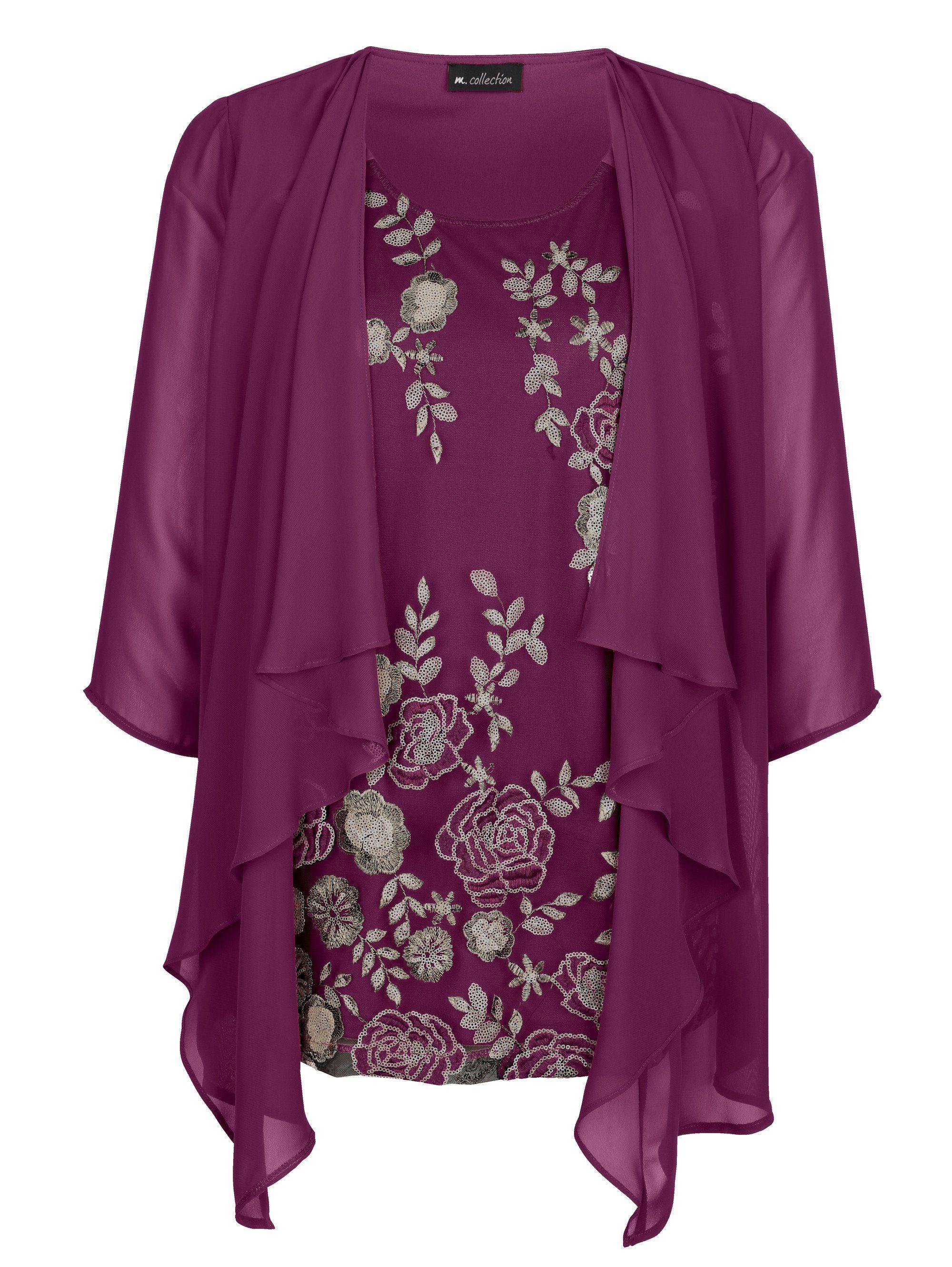 Einsatz Kaufen 1 Shirt MCollection Vorne Floral in 2 Mit Besticktem Online mN0w8nyvO